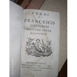 Zacchiroli F., Versi di...